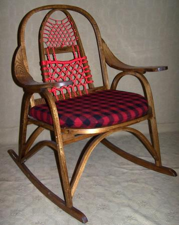 Lumberjack Red Snowshoe Chair
